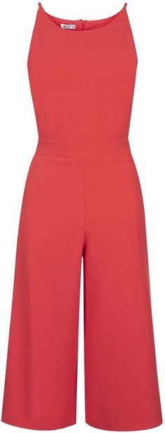 Womens coral red jumpsuit from Topshop - £35 at ClothingByColour.com