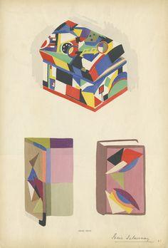 "Sonia Delaunay Fashion Illustration 1   Reference Code: US.NNFIT.SC.N6853.D34 L56.17  Date of Original: 1912-1913    Source: Plates from portfolio ""Sonia Delaunay; ses peintures, ses objets, ses tissus simultanés, ses modes"""