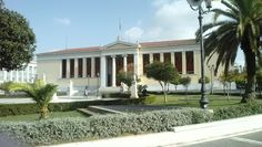 University of Athens, Life In Greece: Athens Parthenon, Capital City, Athens, Greece, Pergola, University, Outdoor Structures, Mansions, House Styles