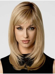 Wigsis Offers latest Stylish Blonde Straight Synthetic Long Wigs for customer. You can find suitable long hair wigs or other fashion wigs including long blonde wigs here with fast shipping. Long Face Hairstyles, Wig Hairstyles, Straight Hairstyles, Wedding Hairstyles, Formal Hairstyles, Haircuts, Popular Hairstyles, Hairstyle Ideas, Medieval Hairstyles