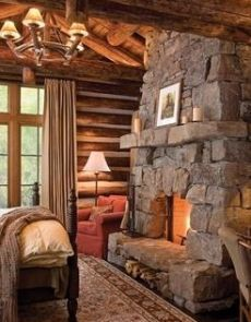 stone fireplaces on Pinterest | Fireplaces, Fireplace Design and ...
