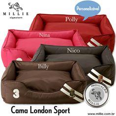 CAMA LONDON SPORT MILLIE -> Sucesso de vendas, agora disponível apenas no Tamanho P.  Seu Pet vai fazer parte do time MILLIE. Acesse: www.millie.com.br