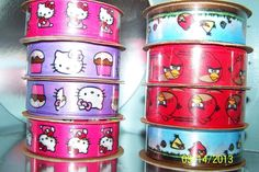 (4) Hello Kitty/Angry Birds decorative ribbon. Starting at $6 on Tophatter.com!