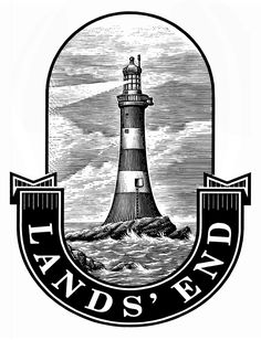 Lands' End Logo Identity Illustrated by Steven Noble on Behance Engraving Art, Engraving Illustration, Illustration Art, Scratchboard Art, Pixel Pattern, Line Work Tattoo, Badge Design, Logo Design, Gravure