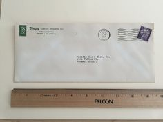 """Item: fc_19570621_6 advertising cover approx. 4""""x 9 ½"""" Condition: very good, yellowing due to age, and some minor creases  Thrifty GREEN STAMPS, INC. 1649 Blackstone Fresno 3, California  Postmark: FRESNO JUN 21 9PM 1957 CALIF. Stamp: 3c Liberty First Class  Addressee: Pacific Gas & Elec. Co. 1401 Fulton St. Fresno, Calif."""