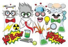 Crazy Scientist Party Props Set  23 Piece PRINTABLE  Little