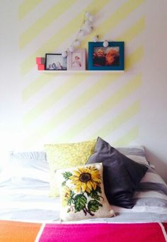 Stripy painted wall