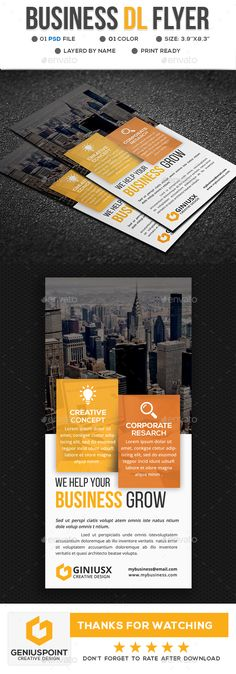 Business DL Flyer Template PSD