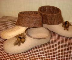 """Обувь ручной работы. Ярмарка Мастеров - ручная работа Домашние тапочки """"Дубове листья"""". Handmade."""