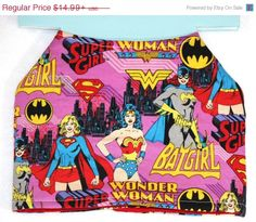 SALE Dog Jacket – Super Girl/Wonder Woman/BatGirl/Female Super Heroes – Cotton And Quilted Backing – Custom Order