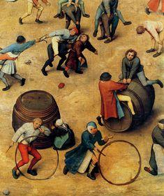 1560 Pieter Bruegel the Elder :: Sets of Children (detail)