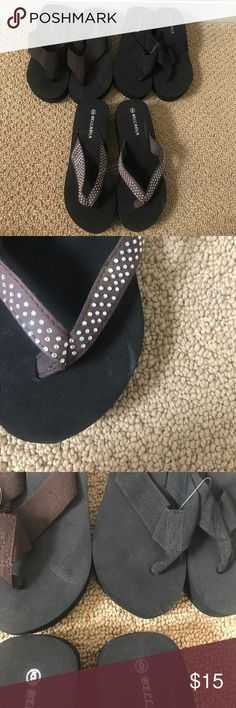 Brand New Wedges Sandals Size 6 Heeled Sandals All are brand new. However they have some flaws due to being in storage. Perfect for the summer to wear at home. Listing is for all 3! Shoes Sandals