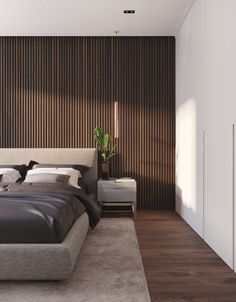 Barikina Moscow On Behance Home In 2019 Bedroom Decor Home Master Bedroom Interior, Luxury Bedroom Design, Modern Master Bedroom, Master Bedroom Design, Contemporary Bedroom, Home Bedroom, Bedroom Wall, Home Interior Design, Bedroom Designs