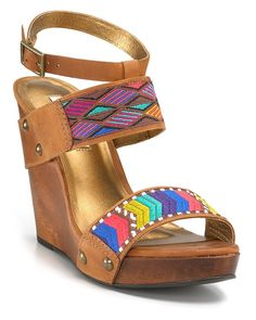 Summer high heels ~ Funky eclectic wedges
