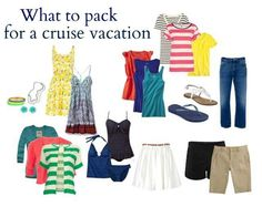 Cruise travel capsule- I'd do one less dress, no skirt, and one more t-shirt & capris.
