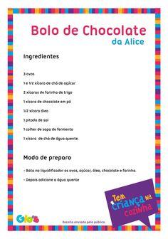 Bolo de Chocolate da Alice