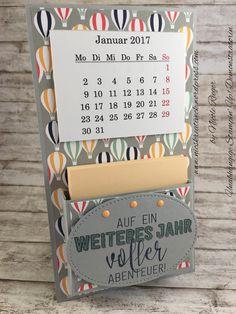 Stampin' Up! - Tischkalender mit Traum vom Fliegen und Ballonparty