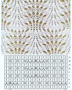 Irina: Gallery for knitting stitches (needles - Knitting and Crochet Lace Knitting Stitches, Lace Knitting Patterns, Knitting Charts, Lace Patterns, Easy Knitting, Stitch Patterns, Knitting Needles, Knit Crochet, News