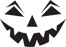Here's a Mean Laugh pumpkin carving stencil to put you in a scary mood. This printable Halloween pumpkin carving stencil will put a fright into trick or treat visitors or smiles on your costume party guests.