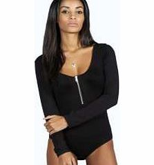boohoo Zip Front Long Sleeve Bodysuit - black azz18709 Team toned down trousers with an eyes- on-me evening top for the perfect party pairing. Make the move to midnight dressing with muted tones and icy metallic hues, statement sequins and entrance-making http://www.comparestoreprices.co.uk/womens-clothes/boohoo-zip-front-long-sleeve-bodysuit--black-azz18709.asp