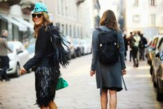 Turquoise - Hat and Bag - Anna Dello Russo - Street Style