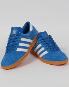 best cheap 54640 46e2a Adidas Hamburg Trainers BluebirdWhiteGum,originals,shoes,mens,sneakers