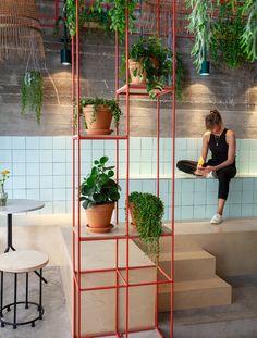 Gallery of Mar Restaurant / Naomi Szwec + Noa Ben Yehuda - 10 Cafe Interior, Office Interior Design, Workspace Design, Dark Interiors, Office Interiors, Cafe Restaurant, Restaurant Design, Seafood Restaurant, Cafe Design