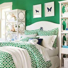 Kelly Emerald Green Twin Bedding
