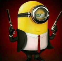 Hit man minion.