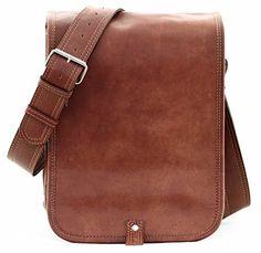 PAUL MARIUS Kuriertasche Messenger Größe S Tablet oder iPad Tasche Vintage-leder Braun LE MESSAGER