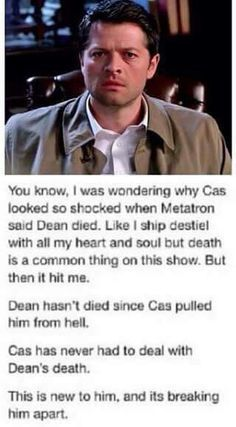 """Well he did """"die"""" and go to purgatory. But Cas has never experienced it, because him and Dean met up long after, since they BOTH went to purgatory and got separated. Plus with exploding Dick, Cas probably didn't see Dean vanish. If that makes sense"""
