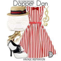 Dapper Dan by leslieakay on Polyvore featuring Funtasma, Jessica McClintock, Kate Spade, vintage, disney and disneybound