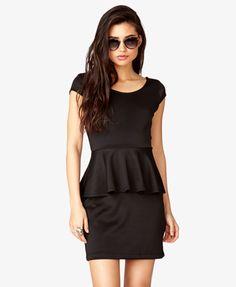 Scuba Knit Peplum Dress | FOREVER 21 - 2035044265