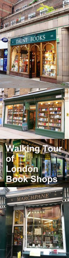 Walking Tour of London Book Shops ~i coukd get loss there and not mind!