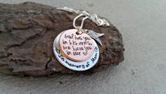 Personalized Necklace Memorial Necklace  God by SweetAspenJewels, $28.00