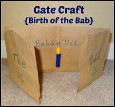 "Gate Craft - Birth of the Bab - Easy craft for the Baha'i holiday or to learn about the letter ""G"""