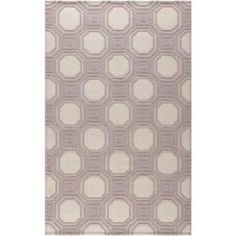 Hand-woven wool rug with geometric motif.Product: RugConstruction Material: WoolColor: Ivory and purpleFeatures: Hand-wovenNote: Please be aware that actual colors may vary from those shown on your screen. Accent rugs may also not show the entire pattern that the corresponding area rugs have.Cleaning and Care: Professional cleaning recommended