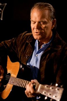 """Glen Campbell (1936-2017), Grammy-winning Musician (""""Gentle On My Mind"""" """"Rhinestone Cowboy"""" """"Wichita Lineman"""" """"Galveston"""" """"By the Time I Get to Phoenix""""), member of legendary 'Wrecking Crew' & actor. Hand-picked by John Wayne for """"True Grit"""". Won CMA & ACM """"Male Vocalist of Year"""" in '67 & CMA """"Entertainer of Year"""" in '68. Hosted """"Glen Campbell Goodtime Hour"""" on CBS. Sold 45+ million records. Country Music Hall of Fame 2005. Born in Billstown/Delight, AR. #Arkansas #Wrecking_Crew #guitarist"""