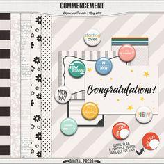 Free Commencement Mini Kit - Digiscrap Parade May 2016 – The Digital Press