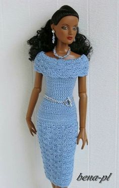 Crochet doll dress
