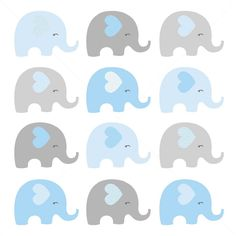 ute Gray AND Blue Elephants Digital Clipart, Blue and grey elephants clipart, elephant clipart, Elephant baby shower Fotos Baby Shower, Baby Shower Niño, Clipart Baby, Elephant Shower, Grey Elephant, Baby Shower Decorations For Boys, Baby Decor, Elephant Background, Baby Shower Garland