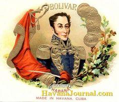 Simon Bolivar Cuban cigar label