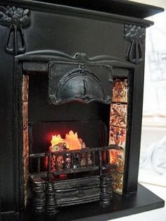 Look how cool this fireplace is.  Looove. <3