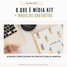 Dreamy Girl: O que é um Mídia Kit +Modelos grátis Instagram Blog, Digital Marketing, Social Media, Business, Mom, Instagram Ideas, Social Media Marketing, Media Kit, Templates Free