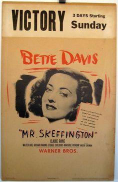 """MR. SKEFFINGTON"" MOVIE POSTER - ""MR. SKEFFINGTON"" MOVIE POSTER"