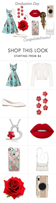 """""""Congratulations!"""" by katchan757 on Polyvore featuring Monsoon, Jennifer Behr, Lime Crime, Casetify, Bueno, Kate Spade and Graduation"""
