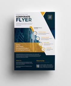 Plutus Professional Corporate Flyer Template 5 Graphic Design Flyer, Corporate Brochure Design, Design Poster, Graphic Design Templates, Corporate Flyer, Web Design, Poster Designs, Logo Design, Flyer Design Inspiration