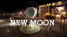 NEW MOON: an interactive moon sculpture by Caitlind r.c. Brown & Wayne Garrett in Lexington, Kentucky made from recycled incandescent light bulbs. The bulbs are modified to reflect light in a way that mimics the moon's phases.