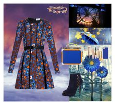 """""""Orange And Blue Color"""" by oksana-kolesnyk ❤ liked on Polyvore featuring CATERINA GATTA, Casetify, Nine West, Être Cécile, Stila, Forever 21 and Guerlain"""