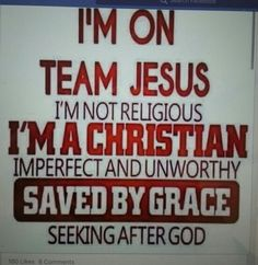 """People say """"Are you religious?"""".... no, I am saved by God."""